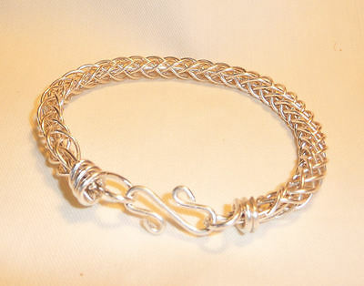 Sterling Silver Braided Viking Style Bracelet