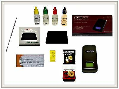 Gold Acid Testing Kit + Electronic Digital Tester Scale 10k 14k 18k 22k Detector