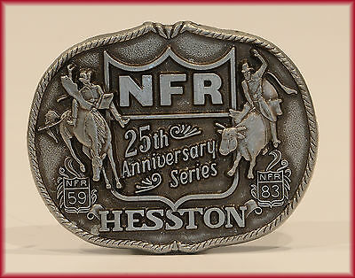 HESSTON BUCKLE 1983 ***NFR*** NATIONAL FINALS RODEO 25th Anniversary  NEW!!!