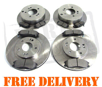 Fits Hyundai SANTA FE 01-06 FRONT & REAR BRAKE DISCS & PADS SET 2.0 2.4 2.7