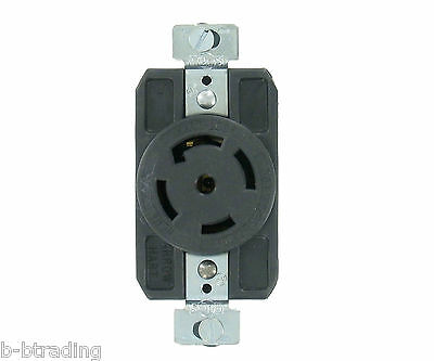 NEMA L21-30 30A 120/208V 3ØY Grounding Locking Receptacle/Outlet Arrow Hart NEW