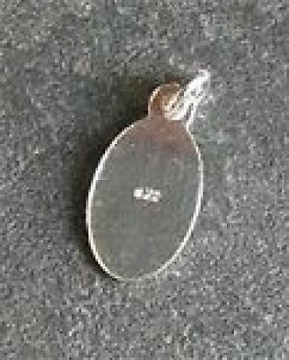 Sterling silver 11mm x 6mm sturdy oval tag .