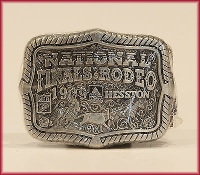 HESSTON BUCKLE 1999 Youth Small ***NFR*** NATIONAL FINALS RODEO   NEW!!!