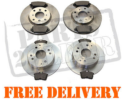 Honda Accord 1.8 2.0 Front & Rear Brake Discs & Pads Full Complete Kit 98-02