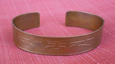 Copper Bracelet Bangle from Nepal Mantra Letters