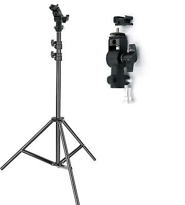 STATIVO CAVALLETTO LUCI FLASH 200 cm. ULTRALEGGERO CON SNODO STAND LIGHT