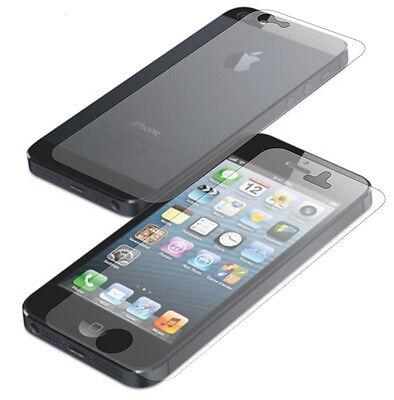 5X FRONT AND BACK CLEAR FILM LCD SCREEN PROTECTION FULL BODY FOR IPHONE 5