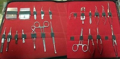 25 Pc Corneal Transplant Micro Minor Surgery Surgical Ophthalmic Instruments Kit