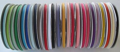 "1/4"" Grosgrain Ribbon Solid Color~You Pick color~ Lot 50 Yards spool"