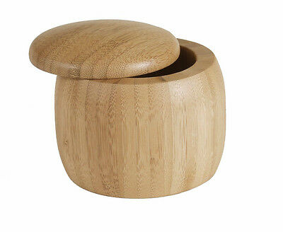 Island Bamboo Round Wooden Salt Box / Spice Cellar - Small