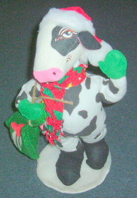 """ANNALEE CHRISTMAS COW 15"""" STANDING 1999"""