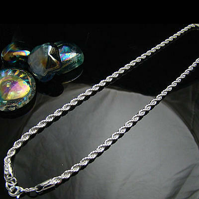 Hot sale free shipping solid silver 3mm chain necklace for XMAS gift HN91