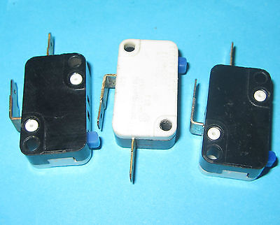 3 x Cherry Electric SPST Microswitch Micro Switch 3A 125v, 250v Button VAC E22 O
