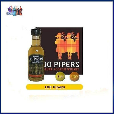 5cl Miniature 100 PIPERS Whisky Bottle MINI BOTELLA