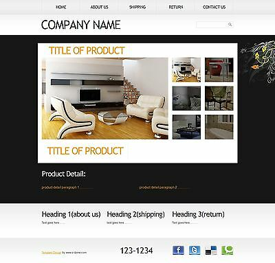 Professional  HTML eBay listing template ( Auction Template ) unique  Design