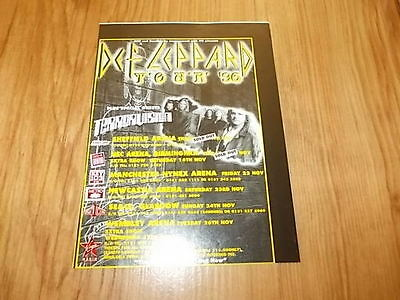 Def Leppard-1996 magazine advert