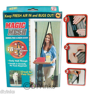 New Magic Mesh Hands-Free Screen Door with magnets AS SEEN ON TV - Box may Vary