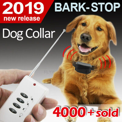 DOG REMOTE TRAINING COLLAR - Electronic Trainer-Anti Bark Barking Stop FAST 100%
