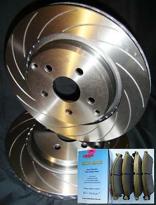 SLOTTED VMAX with PADS Ford TERRITORY TS TX Ghia SX SY Rear Disc Brake Rotors