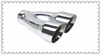 304 stainless steel angle cut slanted twin round dual wall exhaust tip tips