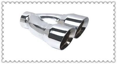 304 stainless steel angled cut twin round dual wall exhaust tip tips