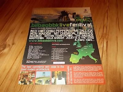 Red hot chili peppers-Bilbao festival-2007 magazine advert