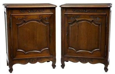 Pair Of 19Th Century Antique French Oak Provincial Cabinets