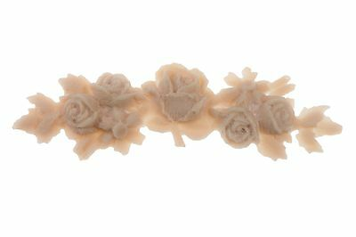 French Cottage Shabby Chic Style Floral Rose Flexible Garland Applique