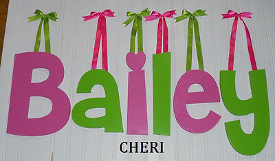 """Wooden Wall Letters 8"""" size Painted Wood Children Nursery Playroom Dorm Cheri"""