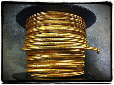 Gold  Parallel Rayon Covered Wire, Antique Style Cloth Lamp Cord, Vintage Lights
