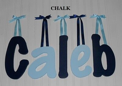 "Wooden Wall Letters 10"" size Painted Wood Child Nursery Dorm Name Decor Chalk"