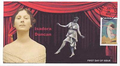 Jvc Cachets - 2012 'choreographers' Isadora Duncan First Day Cover Fdc Style #2