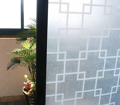 90cm x 3m Shoji Oriental Square Privacy Frosted Frosting Window Glass Film