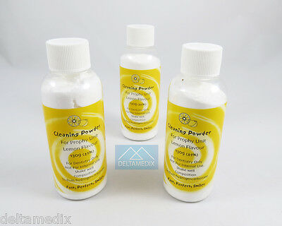 Prophy Jet Powder Lemon Dental Cleaning Powder Lot 3 Sodium hydrogen carbonate