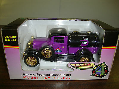 """Amoco---Ford Model A Tanker Truck---Diecast---Bank With Key---Limited---6"""" Long"""