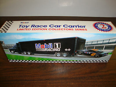 "Mobil---Toy Race Car Carrier---#2---With Race Car---1994---14"" Long"