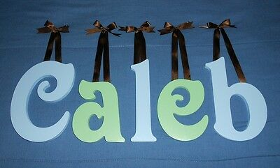 "Wooden Wall Letters 10"" size Painted Wood Child Nursery Playroom Names Victorian"