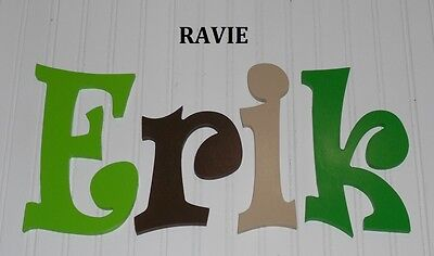 """Wooden Wall Letters 10"""" size Painted Wood Children Nursery Playroom Names Ravie"""