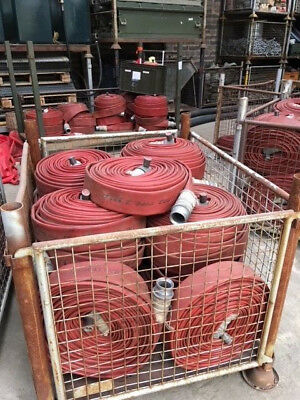 Fire Hose 75ft Brigade Lengths, 70mm Angus Duraline, ally ends,