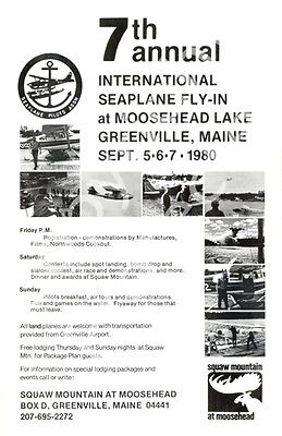 Greenville Seaplane Fly In Official Poster 1980 The Seventh Annaual 4 Day Event