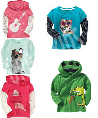 New Baby Gap Longsleeve Top T Shirt Cute Designs, Size at 6-12M.1Y.2Y.3Y.4Y.5Y