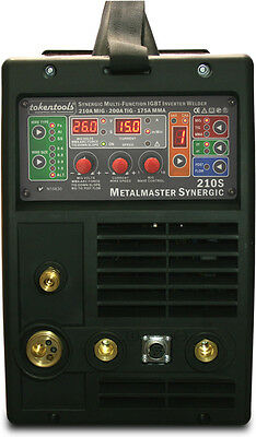 Metalmaster Synergic 210 Amp Multi-Process Mig Welder + TIG + Stick 5 Year WTY