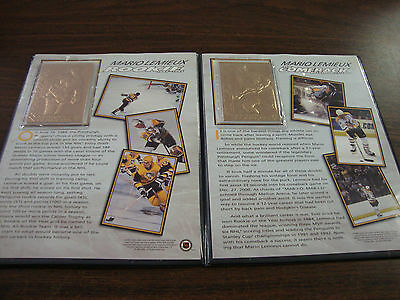Mario Lemieux---22kt Gold Cards---Danbury Mint---Very Hard To Find---2001