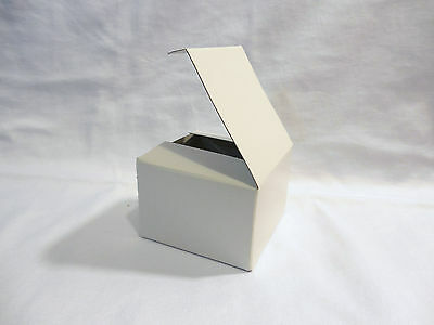 Lot of 25 3x3x2 Gift Retail Shipping Packaging boxes White lightweight cardboard