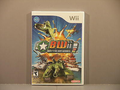 Battalion Wars 2 (Wii, 2007) Out of Print Sealed ***Brand New***