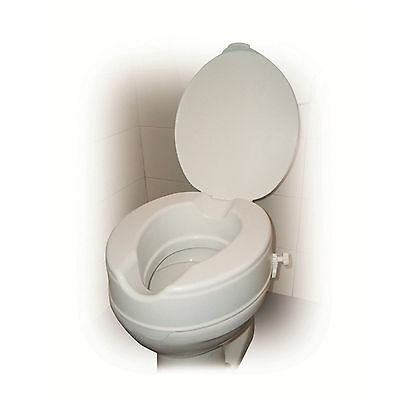 "Drive Raised Toilet Seat With or Without Lid in 2"", 4"" and 6"" Toilet Raisers"