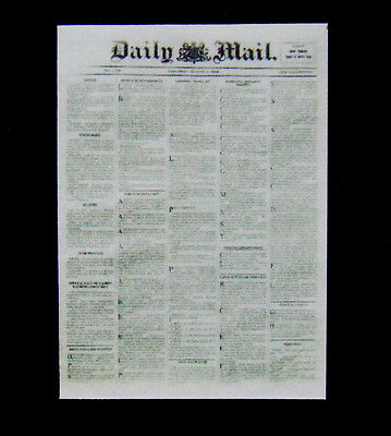 Dollshouse Miniature Newspaper - 1900 Dail Mail