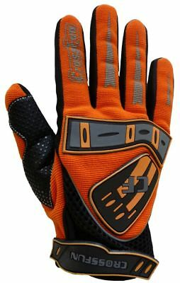 Crossfun Kinder MX MotoCross MTB BMX Handschuhe orange Größe 5 6 8 XS