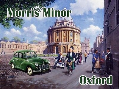 Personalised Morris Minor 1000 Wall Clock Vintage Classic Car Dad Gift VC31