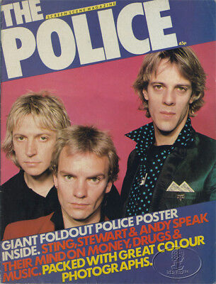 POLICE 1980 MAGAZINE & GIANT FOLD-OUT POSTER SCREEN SCENE Sting